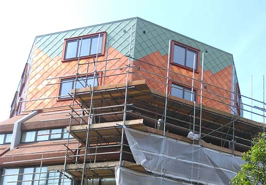 Copper Roofing Zinc Roofing Zinc And Copper Wall Cladding