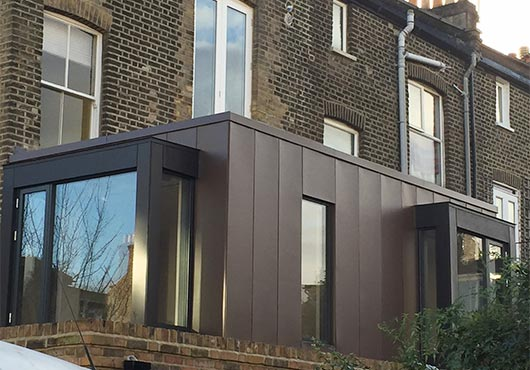Zinc Wall Cladding In London F Amp G Roofing Specialists